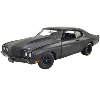 "1970 Chevrolet Chevelle SS Blackout ""Drag Outlaws"" Matt Black Limited Edition 600 pcs Worldwide 1/18 Diecast Model Car by ACME"