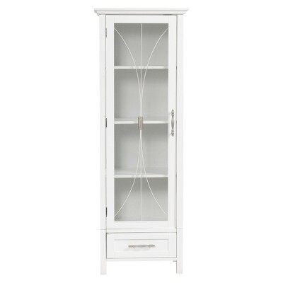 Symphony Tall Floor Cabinet White - Elegant Home Fashions