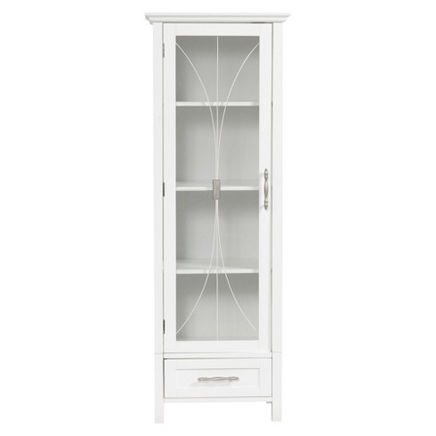 7091f60628477 Symphony Tall Floor Cabinet White - Elegant Home Fashions   Target