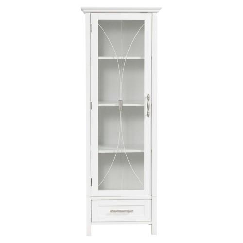Symphony Tall Floor Cabinet White - Elegant Home Fashions