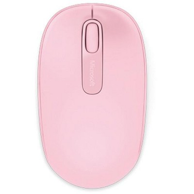 Microsoft 1850 Mouse - Wireless - Radio Frequency - Light Orchid Pink - USB 2.0 - 1000 dpi - Scroll Wheel - 3 Button(s)