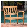 Peyton 4pk Acacia Wood PatioClub Chairs w/ Cushions - Christopher Knight Home - image 3 of 4