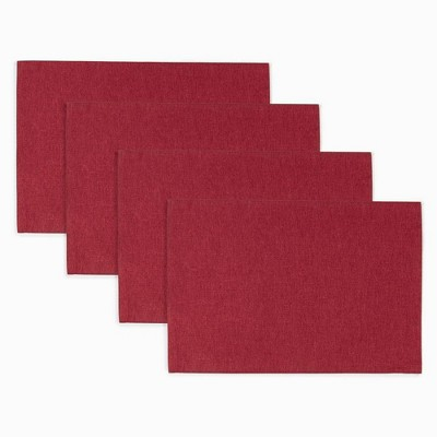 """4pk 13""""X19"""" Somers Placemats Red - Town & Country Living"""