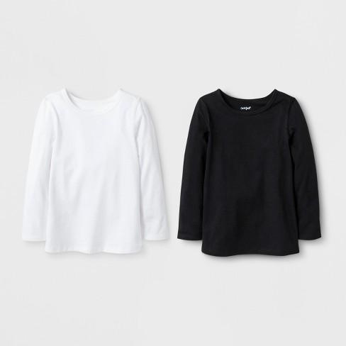 c820bbee2 Toddler Girls  2pk Adaptive Long Sleeve T-Shirt - Cat   Jack™ Black White