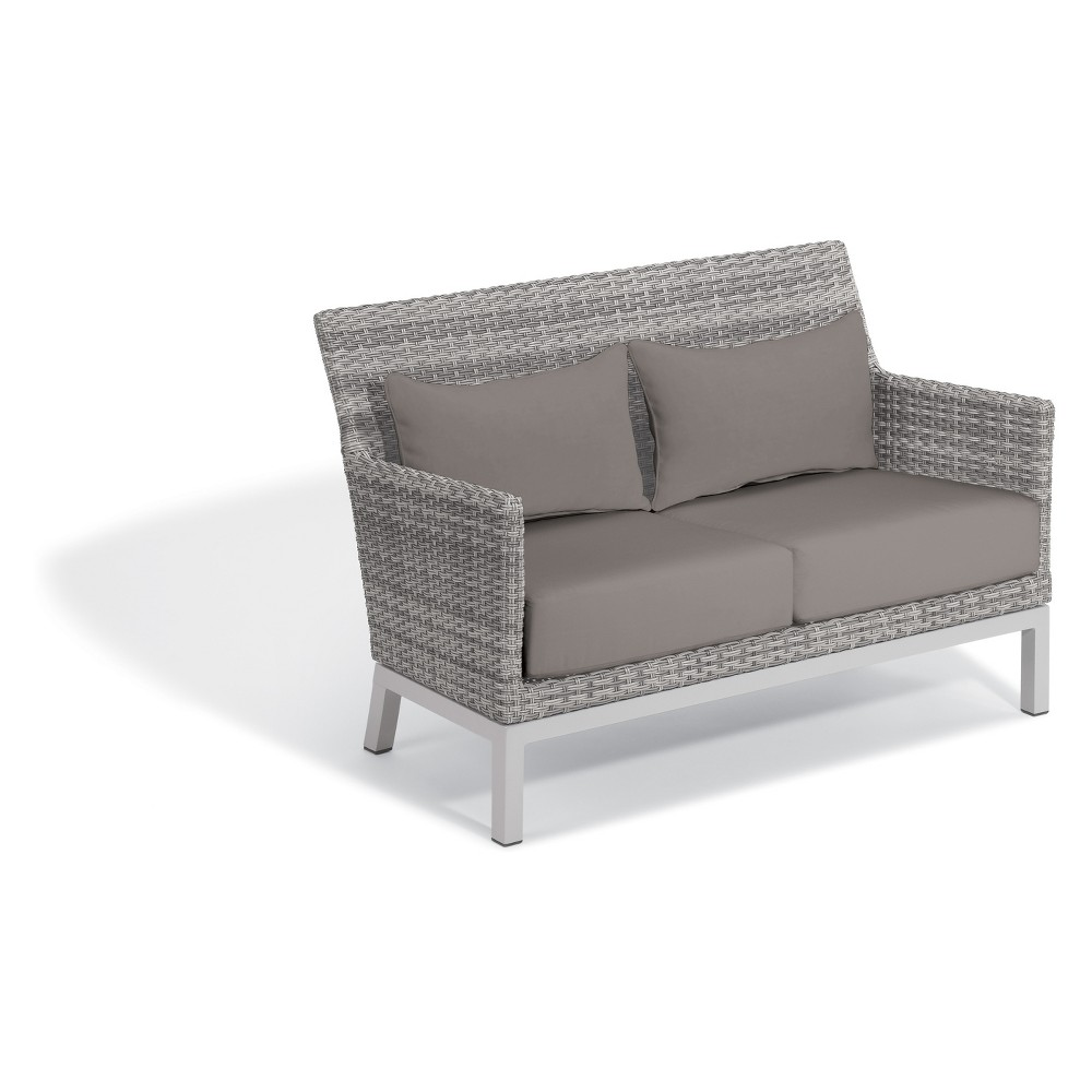 Phenomenal Argento Loveseat With Lumbar Pillow Stone Gray Oxford Garden Ibusinesslaw Wood Chair Design Ideas Ibusinesslaworg