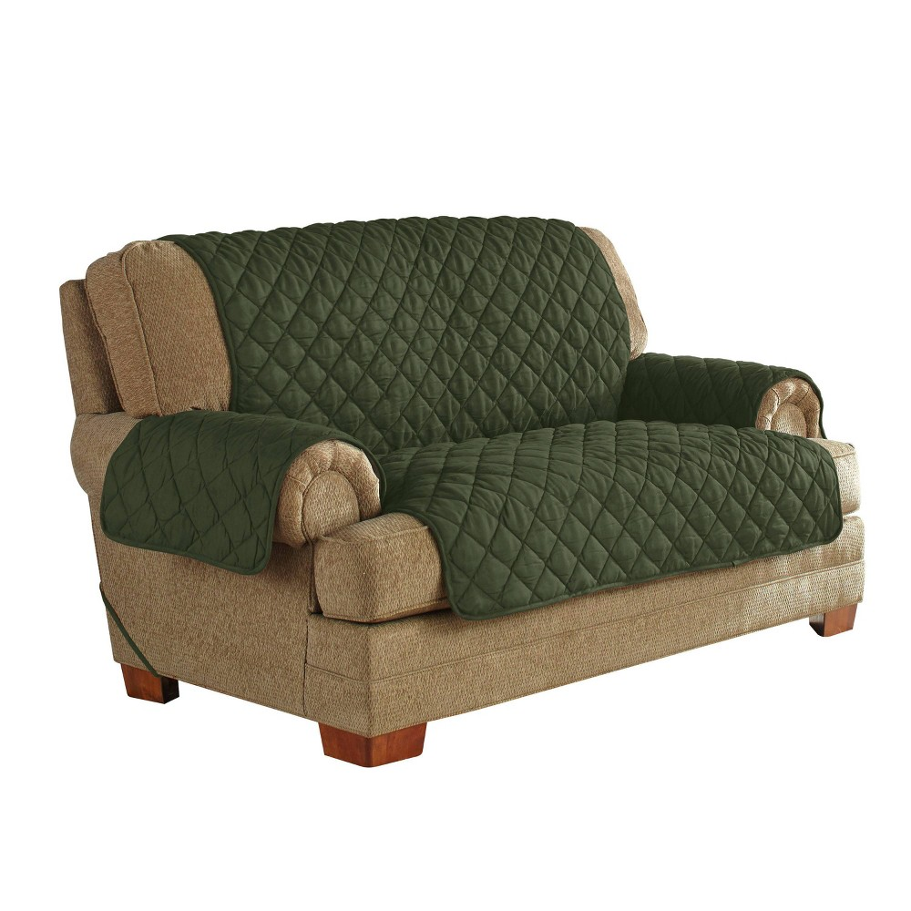 Best Shopping Ultimate Waterproof Furniture Protector With Neverwet Loveseat Slipcover Green Serta