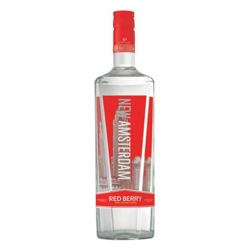New Amsterdam Red Berry Flavored Vodka - 1L Bottle - image 1 of 1