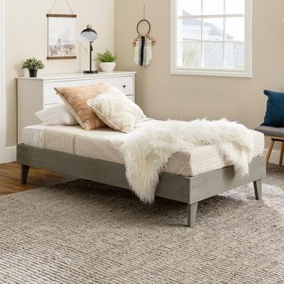 Twin Solid Wood Platform Bed - Saracina Home : Target
