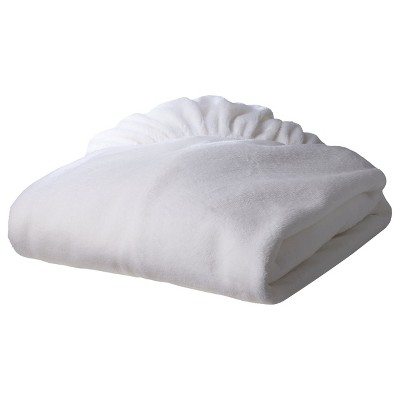 TL Care Heavenly Soft Chenille Fitted Crib Sheet - White
