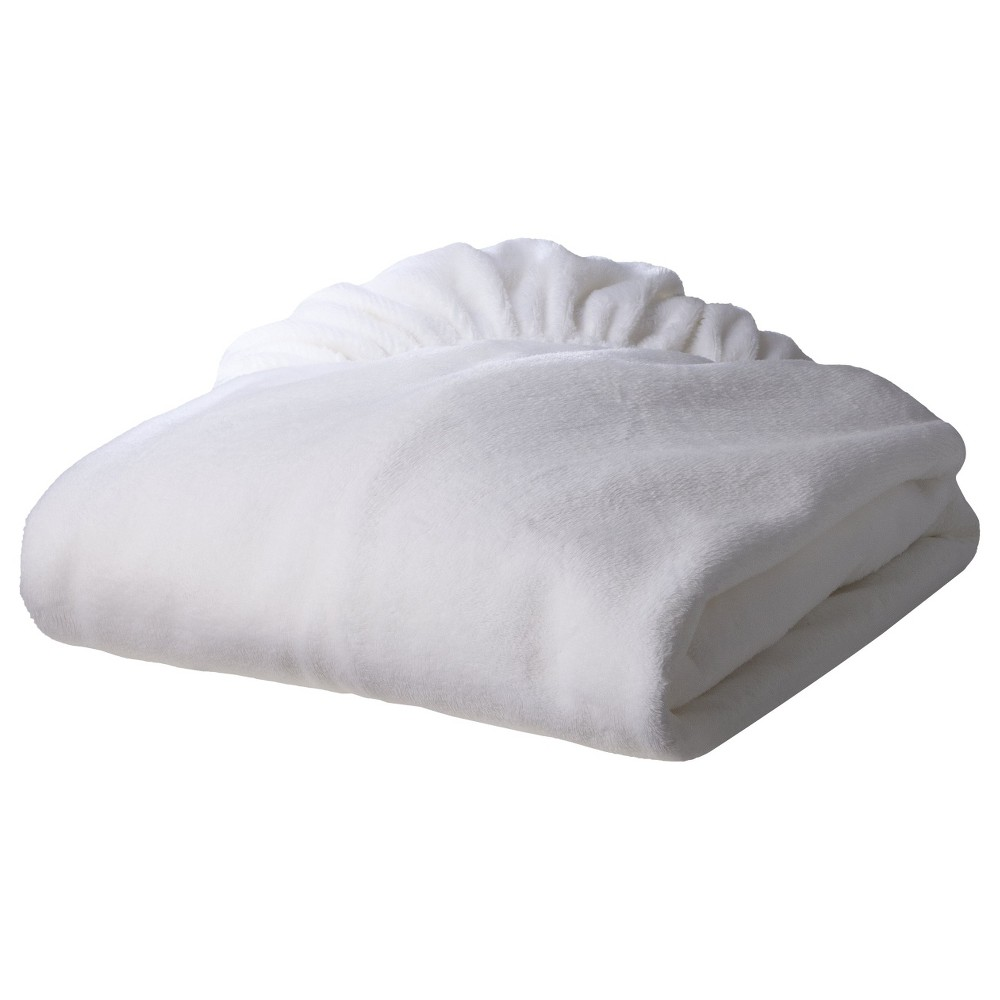 Image of TL Care Heavenly Soft Chenille Fitted Crib Sheet - White