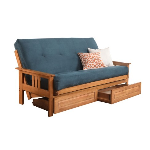 Full Chicago Coil Spring Mattress Futon With Drawers Dual Comfort