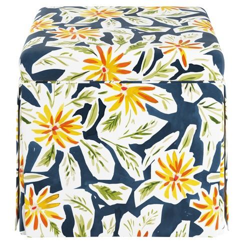 Carla Skirted Storage Ottoman - Cloth & Company - image 1 of 3