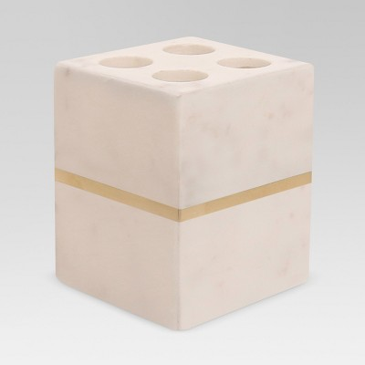 Marble Toothbrush Holder White/Gold - Project 62™