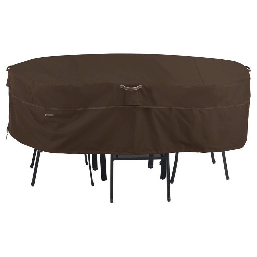 Madrona Table And Chair Cover Medium Dark Cocoa Classic Accessories, Brown