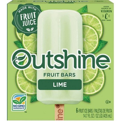 Outshine Lime Frozen Fruit Bar - 6ct
