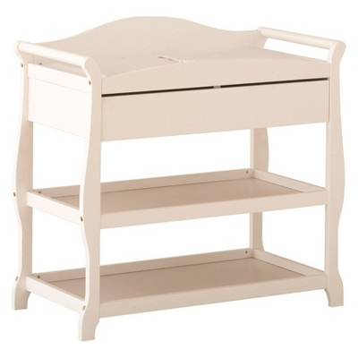 Stork Craft Aspen Changing Table with Drawer - White