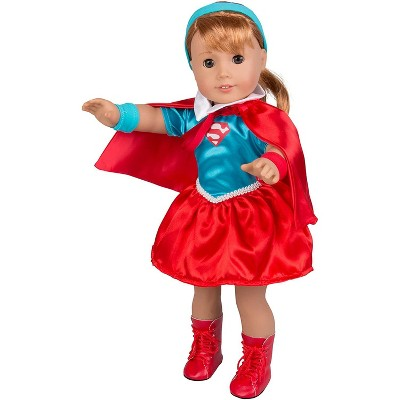 Dress Along Dolly Superwoman Outfit for American Girl Doll