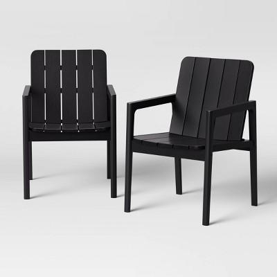 2pk Blackened Wood Patio Dining Chair - Smith & Hawken™