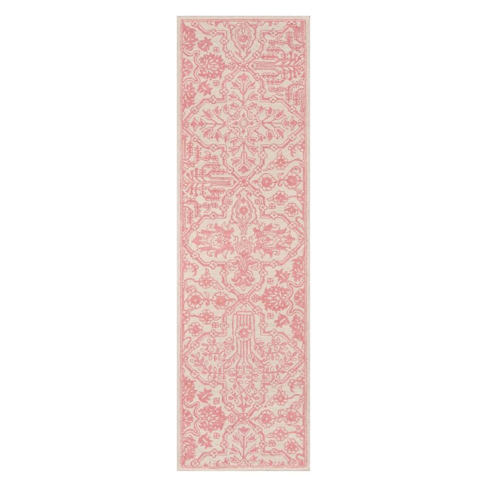 2'3X8' Geometric Tufted Runner Pink - Momeni