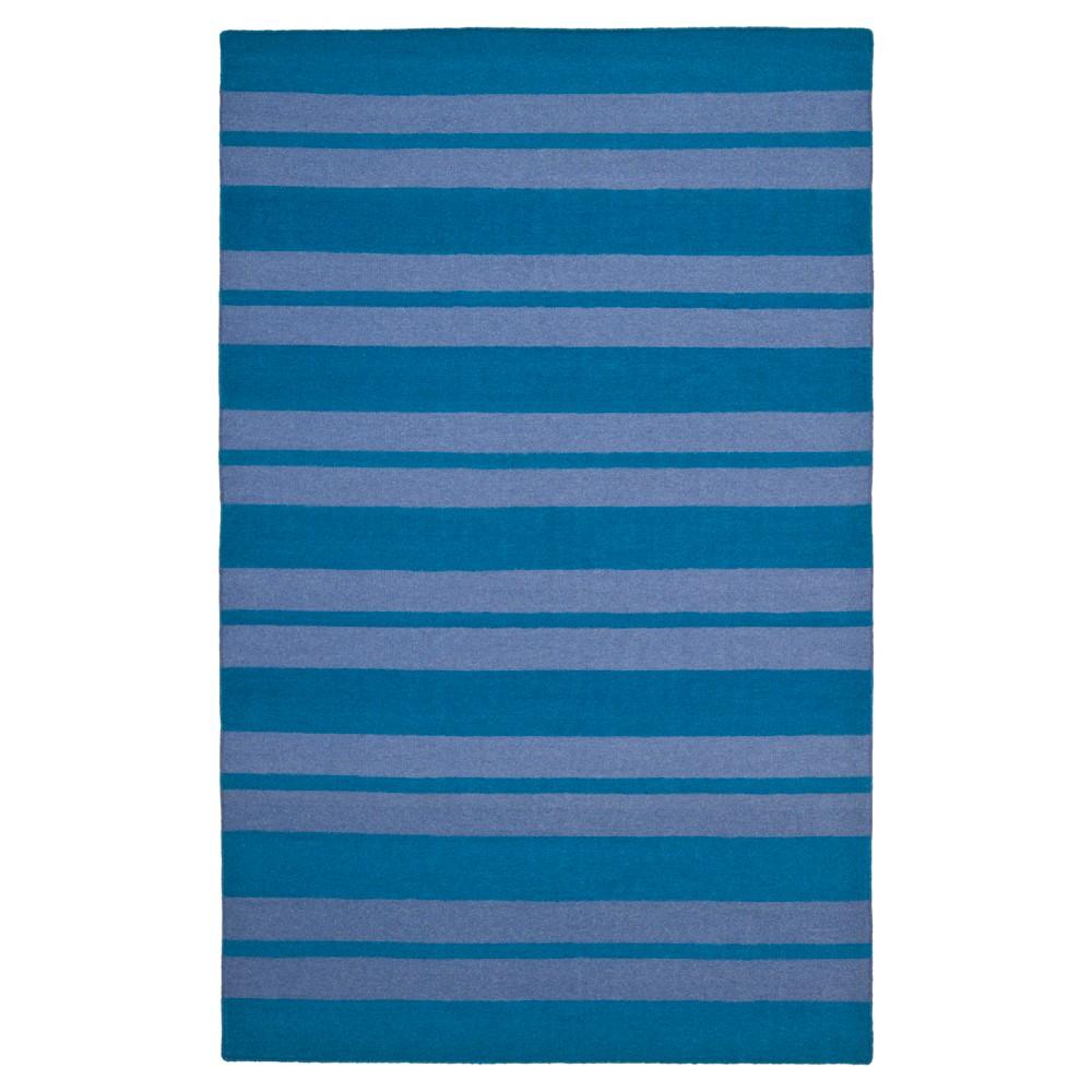 Amin Dhurry Rug - Turquoise/Lavender - (4'x6') - Safavieh, Turquoise/Lavander