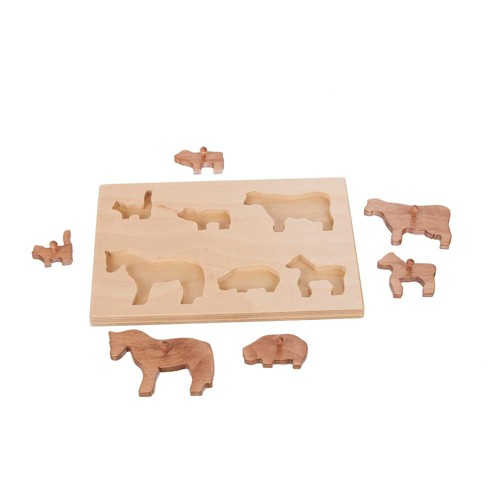 Remley Kids Wooden Puzzle Board w/ Farm Animals - image 1 of 1