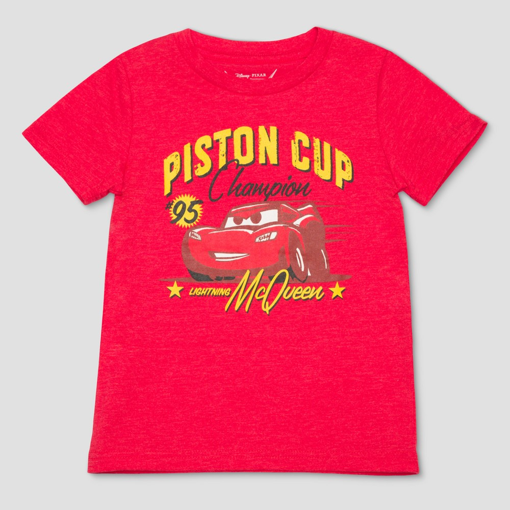 Toddler Boys' Disney Cars Short Sleeve T-Shirt - Red 12M