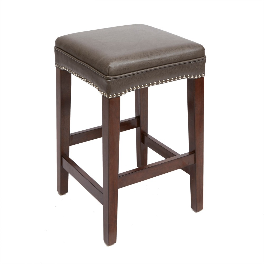 Silverwood 24 Dodie Modern Wood Swivel Barstool With Round Cushion Brown