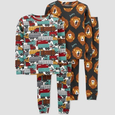 Baby Boys' 4pc Trucks/Lion Pajama Set - Just One You® made by carter's 9M