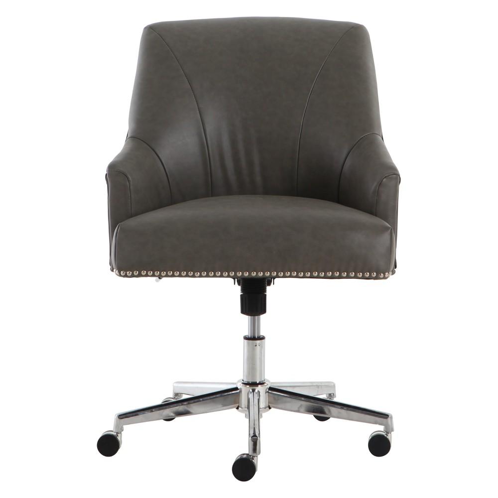 Style Leighton Home Office Chair Gathering Gray - Serta, Grey
