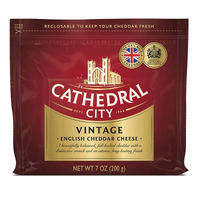 Cathedral City Vintage White Cheddar Cheese Chunk - 7oz
