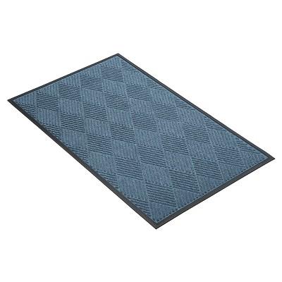 Blue Solid Doormat - (3'X4') - HomeTrax
