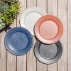 "10.5"" Melamine and Bamboo Dinner Plate White - Threshold™ - image 2 of 4"