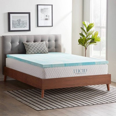 "Comfort Collection 2"" Gel Swirl Memory Foam Mattress Topper - Lucid"