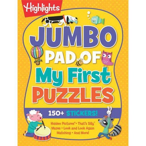 Jumbo Pad of My First Puzzles - (Highlights(tm) Jumbo Books & Pads) (Paperback) - image 1 of 1