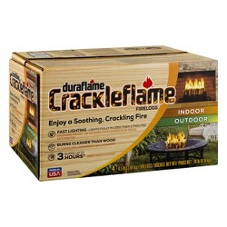 Duraflame Crackleflame 4pk 4.5lb Firelog Wood