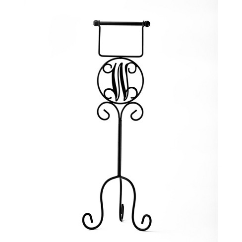 Lakeside Monogram Toilet Paper Holder with Vintage-Style, Metal Scroll Work - image 1 of 1