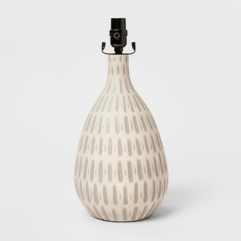 Large Retro Pattern Ceramic Table Lamp Base Gray - Project 62™ - image 1 of 2