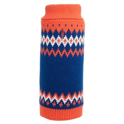 The Worthy Dog Fairisle Turtleneck Pullover Sweater