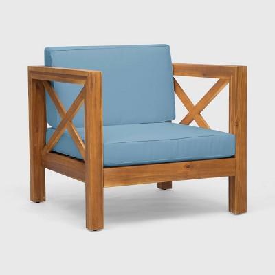 Brava Acacia Wood Club Chair - Christopher Knight Home