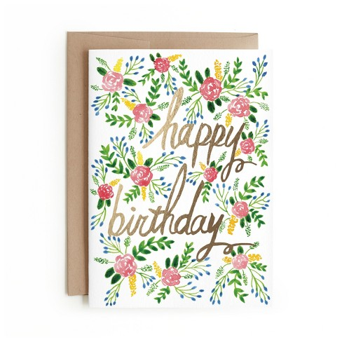 Minted Floral Birthday Card - image 1 of 1