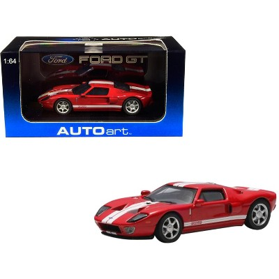 2004 Ford GT Red with White Stripes 1/64 Diecast Model Car by Autoart