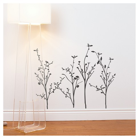 Spring Branches Wall Decal - Charcoal - image 1 of 1