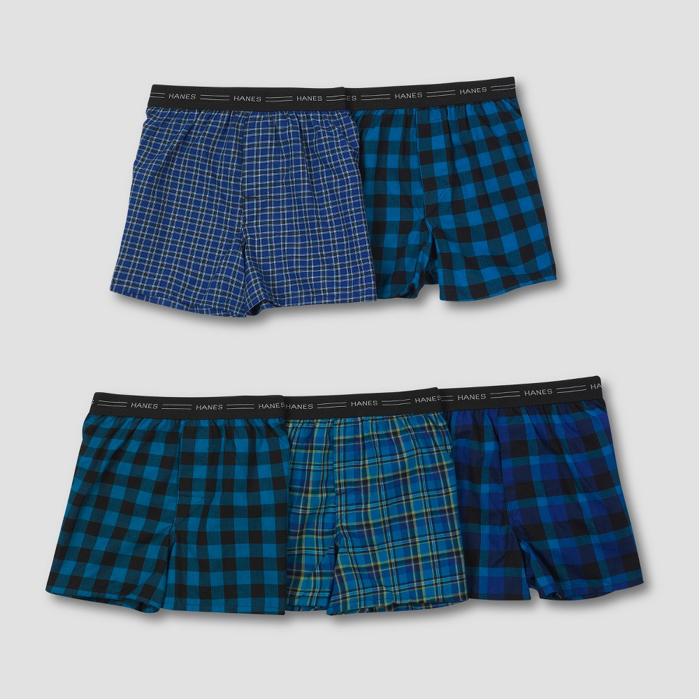 Image of Boys' Hanes 5-Pack Assorted Boxers - Multi L, Boy's, Size: Large, MultiColored