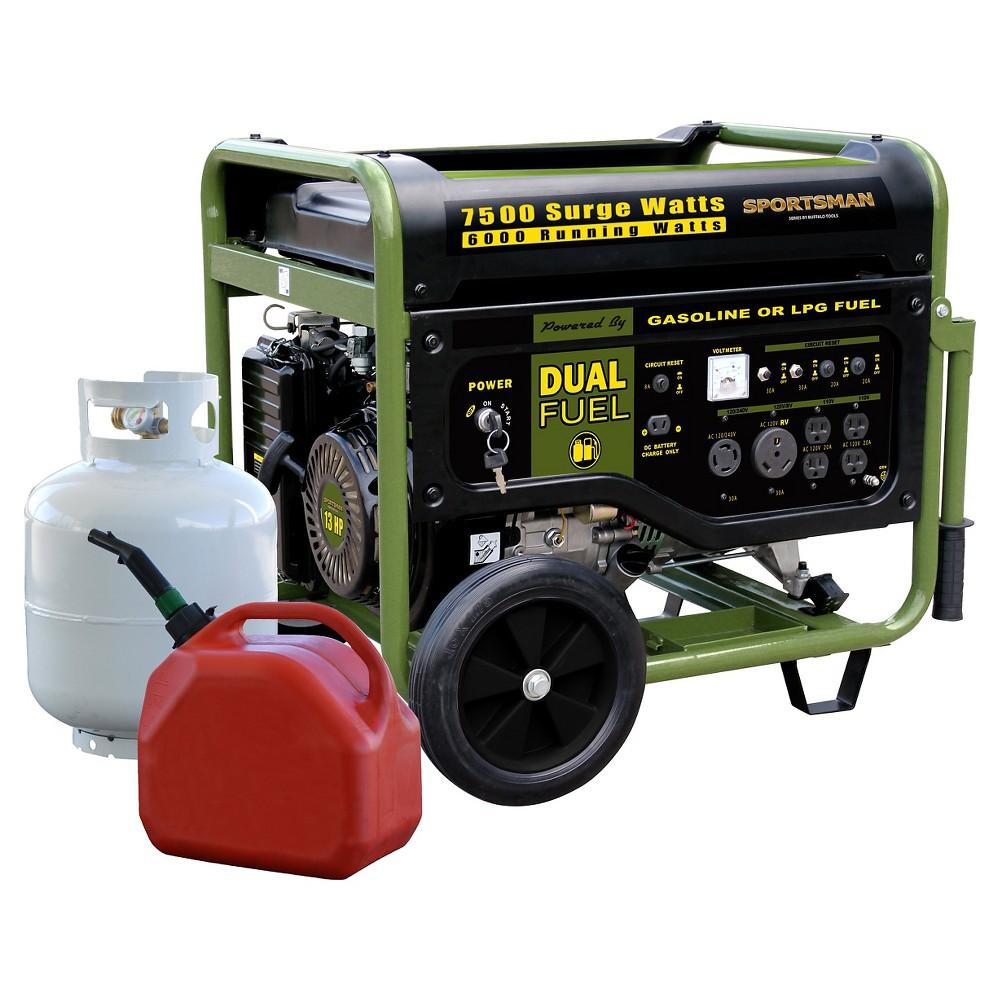 7500 Watt Dual Fuel Generator - Black - Sportsman