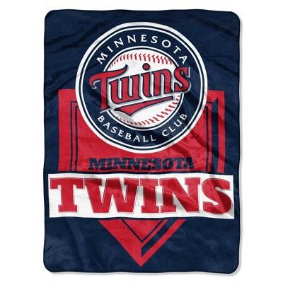 MLB Minnesota Twins Home Plate Raschel Throw Blanket