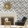RoomMates Chevron Stripe Peel & Stick Wallpaper Blue - image 2 of 4
