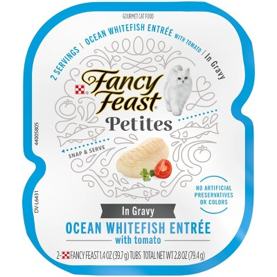 Fancy Feast Petites Ocean White Fish with Tomato Gravy Wet Cat Food - 2.8oz
