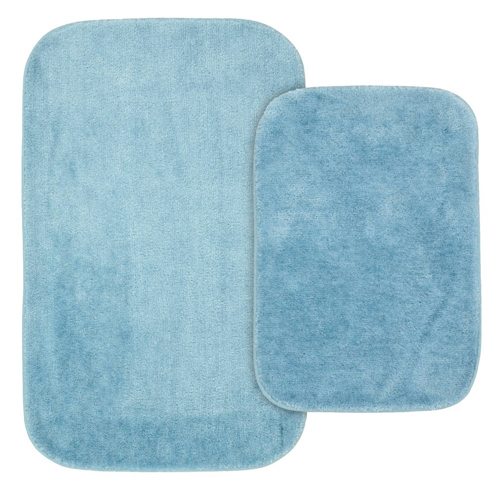 2pc Traditional Nylon Washable Bathroom Rug Set Basin Blue - Garland was $24.99 now $16.39 (34.0% off)