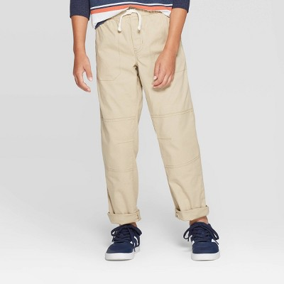 Boys' Stretch Straight Fit Pull-On Woven Pants - Cat & Jack™