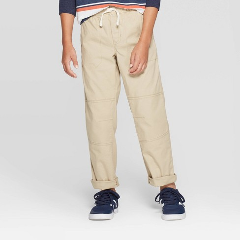 Boys' Stretch Straight Fit Pull-On Woven Pants - Cat & Jack™ - image 1 of 3